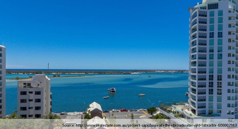 View from the Sapphire at the Broadwater