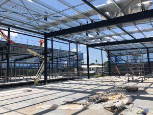 Clem Jones gym construction progress
